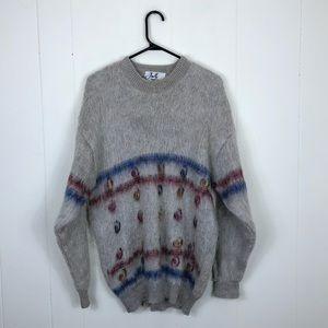 Vintage Mohair Wool Crewneck Sweater Sz L